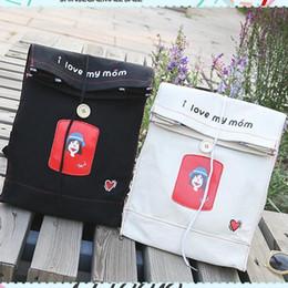 Cartoon Style Backpacks Australia - New Style Small Fresh Girl Canvas Schoolbag Cute Cartoon Printing Bags Envelopes Shape Backpack