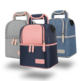 picnic backpack wholesale Australia - Mummy Backpack Maternity Nappy Bag Diaper Bag Thermal Insulated Lunch Bags Large Capacity Outdoor Travel Picnic Storage Bags GGA3243