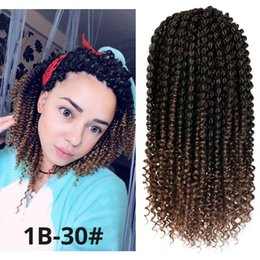 $enCountryForm.capitalKeyWord Australia - New Style 14 inch Spring Twist Hair Ombre Colors Synthetic Hair Extensions Senegalese Marley Braids Crochet Hair Curl End for Women