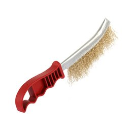 $enCountryForm.capitalKeyWord Australia - 1PC BBQ Grill Cleaning Brush Steel Wire Brush Copper Plating Derusting with Plastic Handle Barbecue Cleaning Accessories