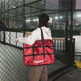Multi Color Hand Bag Australia - Travel large capacity portable storage bag multi-function hand luggage boarding bag collision color fitness bag shoulder diagonal package