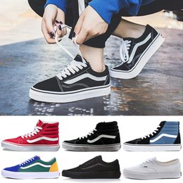 9bffc6b5798 Vans Luxury Brand Designer Casual Shoes Authentic Old Skool SK8-Hi Fear of  God Mens Women Canvas Skate Shoes Trainer Sports Sneakers 36-44