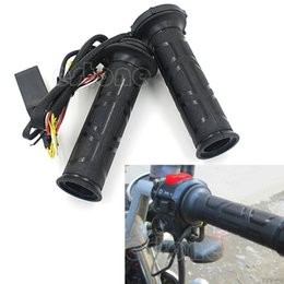 "Electric Hot Warmer Australia - QILEJVS Motorcycle 7 8"" 22mm Electric Hot Heated Molded Grips Handle Handlebars Warmer-W212"
