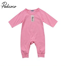baby love wholesale clothing NZ - Pudcoco Baby Boys Girls Solid Love Heart Pattern Pullover O-Neck Long Sleeve Romper Jumpsuit Outfits Clothes Set