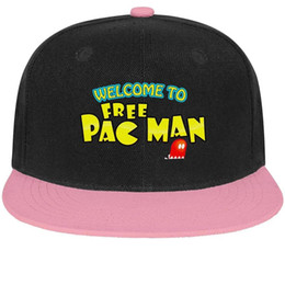 Ball For Game NZ - Pac-Man logo play game Unisex Man's Hat Woman's Caps Simple Cotton Snapback Flatbrim Top Hats Ball Caps for Men