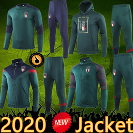 Wholesale men s sportswear for sale – designer 2020 Italy jacket Training suit tracksuit Sportswear Futbol Camisa Totti Pirlo Insigne Del Piero Soccer Jerseys Italia Football Camiseta
