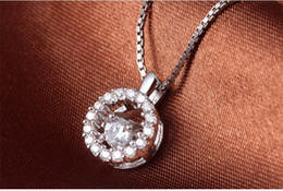 Pendant Jewelery Australia - Woman's Pendants DIY Chains Necklaces Women Jewelery 925 Original Silver Round Activity Open Lucency Crystal Fashion Party Gifts 11x8mm 6pcs
