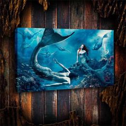 $enCountryForm.capitalKeyWord Australia - Moore Little Mermaid,Home Decor HD Printed Modern Art Painting on Canvas (Unframed Framed)