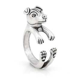 $enCountryForm.capitalKeyWord Australia - Vintage Silver Retro Style Funny Jack Russell Terrier Dog Ring Anel Boho Animal Metal Rings For Women Men Fashion Jewellery For Pet Lovers