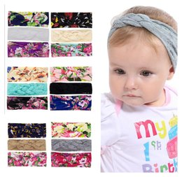 $enCountryForm.capitalKeyWord Australia - Children Flower printing Headbands 2019 new Bohemian Bunny Ear Hair Band Hair Accessories Knot Head Wrap For Girls Childrens 3pcs set