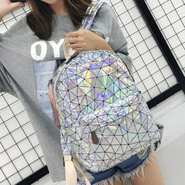 $enCountryForm.capitalKeyWord Australia - Sport and Outdoor Packs Backpack purse fashion Style laptop bag school bag Diamond Lattice colorful laser Bookbag