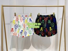 $enCountryForm.capitalKeyWord NZ - 19 Women Fashion Luxury Designer Graffiti Letter Print Culotte Short Pants Shorts Girls Casual Loose Runway Female Multicolor Active Shorts