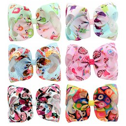 Hair clips for infants online shopping - Big inch Candy Grosgrain Ribbon Baby Bows With Hair Clips Ribbon Bow Hair Accessories For Girls Infant Headwer Photo Tools