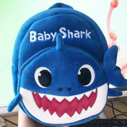 $enCountryForm.capitalKeyWord Australia - Designer-Baby Shark Backpack Children Kids Cute Plush School Backpack Cartoon 3D Animal Printed Kinderegarten Bags OOA6417