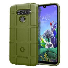 $enCountryForm.capitalKeyWord Australia - For LG Q60 Case Cover Soft Hybrid Armor Silicone Rubber Rugged Matte Finished Shield Fingerprint Proof Non-Slip