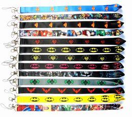 $enCountryForm.capitalKeyWord Australia - Neck Strap Lanyard for Keyring Key Chains polyester Batman lanyards movies cartoon key chains for mp3 4 5 cellphone DHL shipping