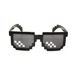 pixel sunglasses Canada - New Deal with it Glasses Thug Life Glasses Pixel Women Men Sunglasses Black Mosaic Sun