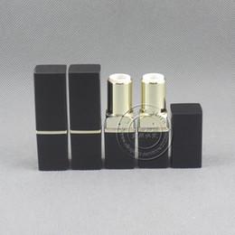 Lip Shapes Australia - LP4528 square shape black lip stick container,12.1mm mold empty lipstick case color cosmetic package 500pcs lot