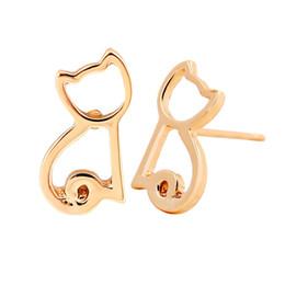 Cute Jewelry For Sale NZ - New Item Hot Sale Earrings Cute Small Cat Stud Earrings Animal Small Cat Earrings For Women Jewelry Wedding jl-235