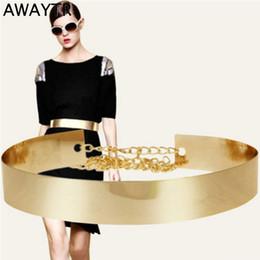 $enCountryForm.capitalKeyWord NZ - Awaytr New Female Metal Wide Waistband Golden Women's Waist Skirt Coat Dress Accessories Luxury Chain Women Belt C19041101