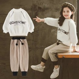 celebrity suit new Australia - Children's wear autumn dress 2019 new online celebrity girl suit little girl autumn and winter dress trendy two-piece set