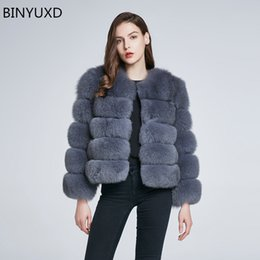 розовый пушистый пальто оптовых-BINYUXD Winter coat new fur coat women Short furry fake fur winter outerwear pink autumn casual party overcoat female