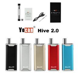 Discount e pen battery mod - Authentic Yocan Hive 2.0 Starter Kit Vape Mod E Cigarette 650mAh Vape Batteries Empty Vape Pen Cartridges Dab Pen Wax Va