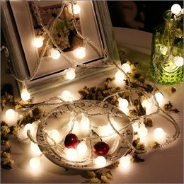 flowers batteries lights Australia - Battery Powered 1m 2m 3m 5m 10m 20m Fairy Flower Ball Led String Christmas Holiday Wedding Party Garland Decorative Lights