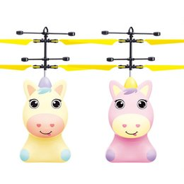 $enCountryForm.capitalKeyWord Australia - Hot sales induction flying toy unicorn flying fairy suspended luminous crystal ball helicopter induction plane as children's toys