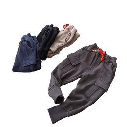 Boy Trousers Black Australia - wholesale 2019 Baby Boys solid spring autumn clothes children pants for kids trousers Boys Harem Pants candy black navy