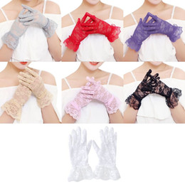 $enCountryForm.capitalKeyWord Australia - Women Dress Gloves Wedding Full Finger Lace Gloves Girls Fashion Mittens Accessories Pink White Hollow