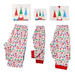 Santa Claus Prints Australia - White New Fall and Winter Housewear Christmas Santa Claus Printed Parent-Child Suit Family Wear Sleepcoat Pajamas YY0068