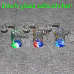 $enCountryForm.capitalKeyWord Australia - Mini Glass Ash Catcher with 5ml silicone container bangers 14mm-14mm for glass bong water pipe oil rig ashcatchers smoking accessories