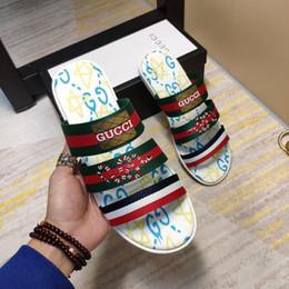 Men italian slippers online shopping - New Italian Summer Men s Slippers Premium Stripe Ribbon Apartment Flat Men s Casual Sandals Size