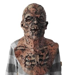 $enCountryForm.capitalKeyWord Australia - 2019 Funny Halloween Cosplay Scary Halloween Mask Zombie Latex Bloody Scary Disgusting Full Face Mask Costume Party Cosplay Prop