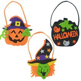 $enCountryForm.capitalKeyWord Australia - Novelty Halloween Decorations Children's Hand Held Pumpkin Style Toys Three-Dimensional Candy Storage Basket Non-Woven Grimace Gift Bags