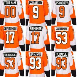 $enCountryForm.capitalKeyWord Australia - 2018 New Brand Adults Philadelphia Flyers 9 Provorov 17 Simmonds 53 Gostisbehere 93 Voracek Orange White Ice Hockey Jerseys Accept Custom