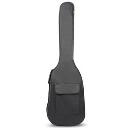 China Black Waterproof Double Straps Bass Backpack Gig Bag Case for Electric Bass Guitar 5mm Thickness Sponge Padded supplier double electric bass guitars suppliers