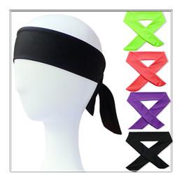$enCountryForm.capitalKeyWord Australia - 2019 Solid Cotton Tie Back Headbands Stretch Sweatbands Hair Band Moisture Wicking Workout Men Women Bands