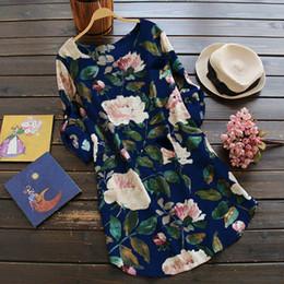 $enCountryForm.capitalKeyWord NZ - Size Plus 5xl Autumn Winter Boho Dress Women Linen Floral Print Long Sleeve Casual Dress Vintage Loose Beach Dresses designer clothes