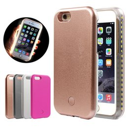 Iphone 6s Light Up Phone Case NZ - LED Light Up Glowing Phone Cases for iPhone X XS XR 6S Iphone8 8Plus Cover For Samsung S8 S9 Edge Plus Case