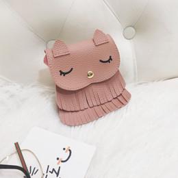 Fiber Fox Australia - Cute Child Kids Girls Little Foxes Animal Mini Messenger Bags Pu Leather Tassel Shoulder Crossbody Bag Candy Coin Handbags Purse