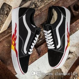 $enCountryForm.capitalKeyWord NZ - New Van Flame Old Skool Flame Cut Out Collection Unisex Sneakers - Black