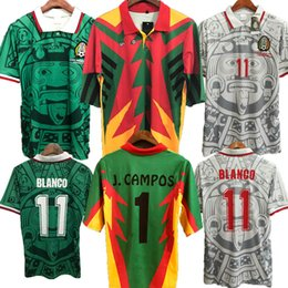 $enCountryForm.capitalKeyWord Australia - Soccer Jerseys 1994 1998 Mexico Retro Version Football Shirts BLANCO Arellano Ramirez Hernandez H.SANCHEZ soccer shirt