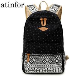 $enCountryForm.capitalKeyWord Canada - Atinfor Canvas Printing Women Backpack Travel Rucksack Female Laptop Bagpack Student Bookbag School Bag For Teenage Girl Mochila Y19061204