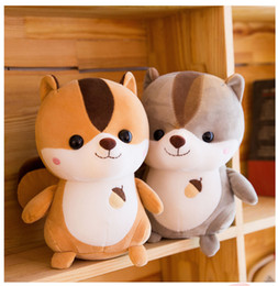 Toy Squirrels Australia - Kids Toys Plush Toys Cute Squirrel Dolls Soft Stuffed Plush Doll For Kids Baby Girl Gifts
