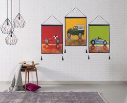$enCountryForm.capitalKeyWord Australia - Decor Wall Scroll Hanging Tapestry Cartoon Car Hanging Painting,Sofa Background Hanging Cloth,Corridor,Porch,Electric Meter Box