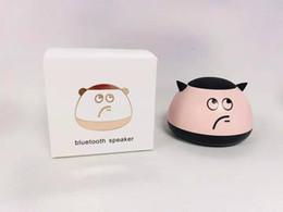 Loudspeaker Cartoon Australia - Cartoon Mini- Bluetooth Loudspeaker Box Toys Bluetooth Loudspeaker Box Plug-in Card Small Loudspeaker Box Desktop Bass Cannon office gift