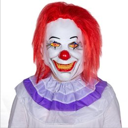 EastEr fancy drEss online shopping - 2019 Funny Scary Clown Mask Full Face Cosplay Horror Masquerade Adult Pennywish Clown Mask Halloween Props Costumes Fancy Dress Party