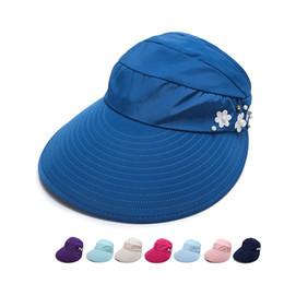 ad36807d9b3 2019 Fashion Hats Women s Summer Solid Color Printing Sun Hat Female Big  Brim Floppy Beach Hat Ladies UV Protection Cap Visors